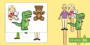 Worry Muncher Stick Puppets - PSHE, worry dolls, anxiety, EYFS ,KS1, KS2, Worry monsters, Worry eater