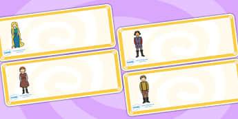 Rapunzel Drawer-Peg-Name Labels - Rapunzel, prince, Editable Drawer-Peg-Name Labels-Classroom Label Templates, Resource Labels, Name Labels, Editable Labels, Drawer Labels, Coat Peg Labels, Peg Label, KS1 Labels, Foundation Labels, Foundation Stage L