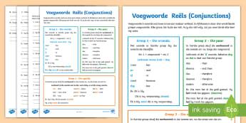 Afrikaans Taal Reëls Voegwoorde Aktiwiteit Afrikaans/English - voegwoorde, study notes, exam revision, conjunctions, grammar, EAL