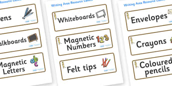 Meerkat Themed Editable Writing Area Resource Labels - Themed writing resource labels, literacy area labels, writing area resources, Label template, Resource Label, Name Labels, Editable Labels, Drawer Labels, KS1 Labels, Foundation Labels, Foundatio