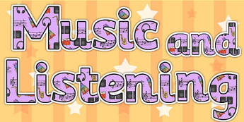 Music and Listening Area Display Lettering - music, listening