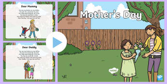 Mother's Day Poetry PowerPoint - KS1 & KS2 Mother's Day UK (26.3.17), Mother's Day, special person, poetry, rhyming poetry, non-rhy