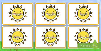Summer Words on Suns - Summer, sun, suns, keywords, holidays, display, holiday, holidays, seasons, beach, sun, flowers, ice cream, sea, seaside