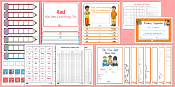 Red Sight Words Resource Pack - NZ, Literacy,Australia, sight words, read, spell, write,