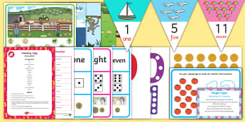 Childminder Counting EYFS Resource Pack - maths, numeracy, number, EYFS, 1 to 1 Correspondence, counts