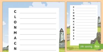 Clonmacnoise Acrostic Poem - Clonmacnoise, Monastery, Early-Christian, Ireland, Shannon, Monks