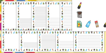 George's Marvellous Medicine Ingredient Page Borders - roald dahl, page borders