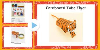 Cardboard Tube Tiger Craft Instructions PowerPoint - craft, cardboard, tube, tiger, instructions, powerpoint