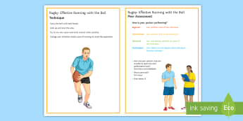 Rugby: Effective Running Skills Techniques Card - Rugby, KS3, Running, effective, Technique