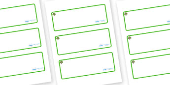 Oak Tree Themed Editable Drawer-Peg-Name Labels (Blank) - Themed Classroom Label Templates, Resource Labels, Name Labels, Editable Labels, Drawer Labels, Coat Peg Labels, Peg Label, KS1 Labels, Foundation Labels, Foundation Stage Labels, Teaching Lab