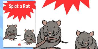 Splat a Rat Poster - splat a rat, poster, summer fair, fayre