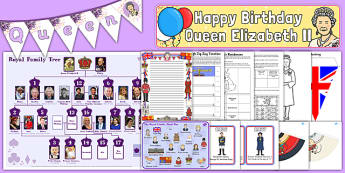 The Queen's Birthday Resource Pack - happy birthday, 90th birthday, queen elizabeth ii, resource pack