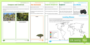 Biomes Virtual Reality Learning and Activity Pack To Support Teaching On Google Expeditions - biomes, environment, expedition, virtual reality, explore, animals, plants, adaptations