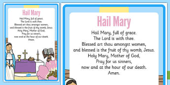 Hail Mary Prayer - Mary, Our Lady, May, Mary in May, hail mary, religion, may altar, prayer, sacred space, display
