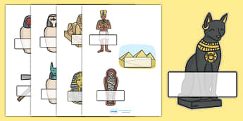 Editable Self Registration Labels (Ancient Egyptian) -  Self registration, register, editable, labels, registration, child name label, printable labels, ancient egyptian, egyptians, egypt