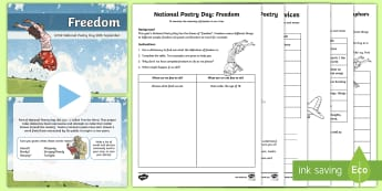 UKS2 National Poetry Day Activity Pack - Enjoy, Discover, Share, Rhyme, rhythm