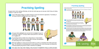 Practising Spelling Adult Guidance - young people, PSHCE, transition, learning, support