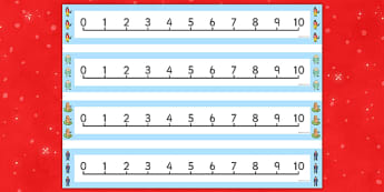 Number Lines 0-10 to Support Teaching on The Jolly Christmas Postman - the jolly christmas postman, number lines, the jolly postman number lines, number line 0-10