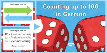 Counting up to One Hundred PowerPoint-German - Numbers, Counting, German, maths, numeracy, ones, twenty, maths, mfl, modern foreign language, ,Germ