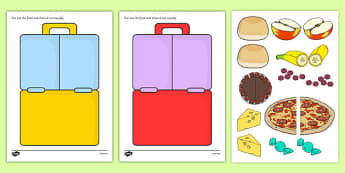 Sharing Food Lunch Boxes Cut and Stick Activity - sharing food, lunch boxes, cut and stick, activity