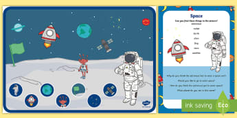 Space Can You Find...? Poster and Prompt Card Pack - space, outer space, solar system. planets, astronaut, rocket, can you find, space can you find poste