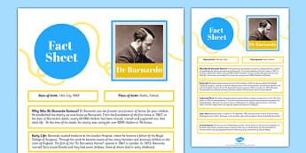Dr Barnardo Fact Sheet - dr, barnardo, fact sheet, fact, sheet, british