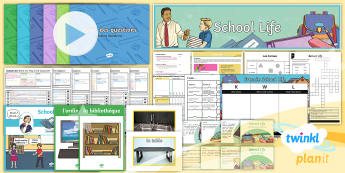 PlanIt - French Year 5 - School Life Unit Pack - french, languages, grammar, school, subjects, lessons, questions, school life, planit