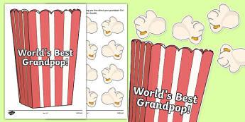 World's Best Grandpop Activity Sheet, worksheet