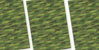 Camouflage Themed A4 Sheets - camouglage, camouflage a4 sheets, camouflage themed sheets, camouflage display sheets, camouflage display, camouflage pattern