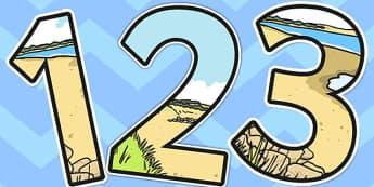 Coast Themed Display Numbers - coast, display, numbers, number
