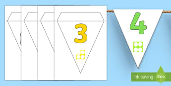 Numbers With Number Shapes 0 20 Display Bunting - Numbers With Number Shapes 0-20 Display - numbers, number shapes, 0-20, display,numbes,nubers,shpes,