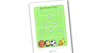 Sport Sticker Reward Chart (15mm) - Sport Reward Chart (15mm), reward chart, chart, sport, reward, 15mm, 15 mm, stickers, twinkl stickers, award, certificate, well done, behaviour management, behaviour, sport, sports, football, netball, gymnastics, a