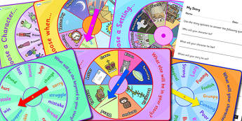 In Depth Story Planning Spinners and Worksheet Pack - story planning, story writing, story spinners, planning spinners, story planning spinners, story pack