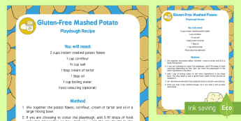 Gluten-Free Mashed Potato Playdough Recipe - Supertato, Sue Hendra, superheroes, coeliac, playdough, play doh, malleable, potatoes, mash