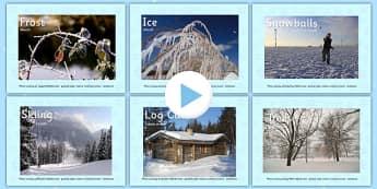 Winter Photo PowerPoint EAL Romanian Translation - romanian, eal