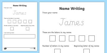 Editable Name Writing Practice Activity Sheet - All About Me, Name Writing, Handwriting, Pre-K, Center Activity, Independent Writing, Writing Center