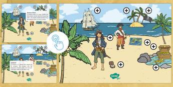 Pirates Picture Hotspots - pirates, pirate, hotspot, pirate hotspot, pirates hotspot, pirate ship, treasure, compass, pirate fl