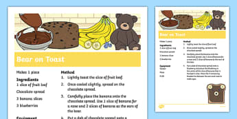 Bear on Toast Recipe