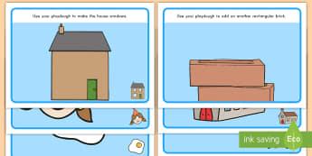 2D Shapes Playdough Mats - playdough, mats, 2D, vocabulary, geometry
