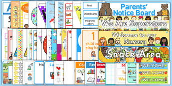 EYFS New Classroom Set Up Resource Pack - EYFS New Class Display