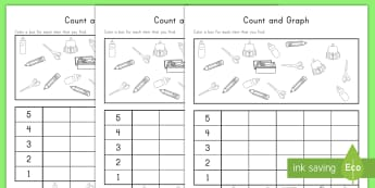 Back to School Count and Graph Activity Sheet - first day of school, back to school graph, data, handling, information, block graph, counting, works