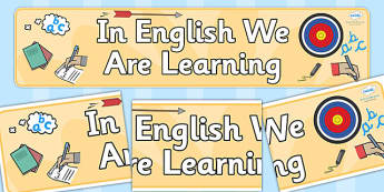 In English We Are Learning Display Banner - banners, displays