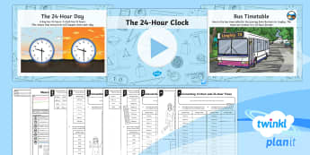 PlanIt Y3 Measurement Lesson Pack Telling the Time (6) - Time, telling the time, 12-hour clock, 12-hour clock, digital time, tell and write the time from an