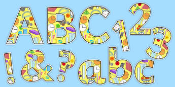 Maths Area Themed Display Lettering - maths, display, lettering