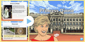 KS2 Princess Diana Information PowerPoint - Princess of Wales, William, Harry, Royal Family, Anniversary.