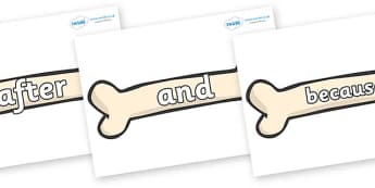 Connectives on Bones - Connectives, VCOP, connective resources, connectives display words, connective displays