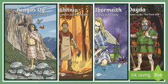Irish Celtic Gods Display Posters-Irish