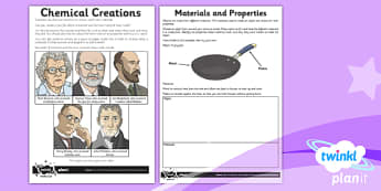 Science: Properties and Changes of Materials Year 5 Home Learning Tasks