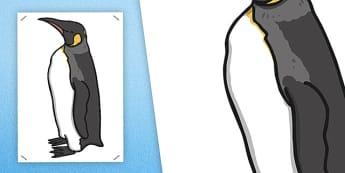 Large Emperor Penguin Cut Out - emperor penguin, cut out, penguin, display