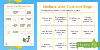 Kindness Week Classroom Bingo Activity - Twinkl Kindness Week, kindness week, twinkl kindness week, kind resources
